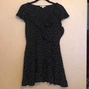 Women's American Eagle Polka Dot Navy Wrap Dress